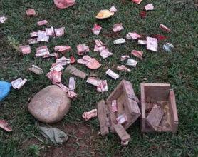 Photo of पालुङटारकाे राधाकृष्ण मन्दिरमा चाेरी, दानपेटिका र पैसा छरपष्ट भेटियाे