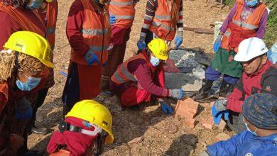 Photo of भूकम्प प्रतिरोधी घर निर्माणका लागि ७ दिने महिला डकर्मी तालिम