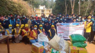 Photo of बहिरा बिद्यालयमा अध्ययरत विद्यार्थीहरुलाई खाद्यान्न र शैक्षिक सामाग्री सहयोग