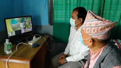 Photo of आइसाेलेशन केन्द्रका विरामिहरुकाे सिसि क्यामेरा मार्फत निगरानी